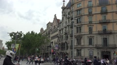 ULTRA HD 4K real time shot,Passeig de Gracia street in Barcelona Stock Footage