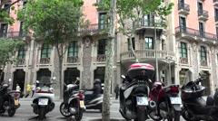ULTRA HD 4K real time shot,Passeig de Gracia street in Barcelona Stock Footage