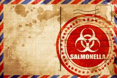 Salmonella concept background, red grunge stamp on an airmail ba Stock Illustration