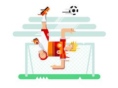 Soccer player character - stock illustration