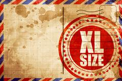 xl size, red grunge stamp on an airmail background - stock illustration