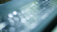 Soft focus shot of a black keyboard Stock Footage