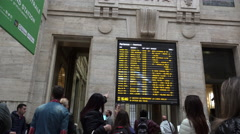 People walking in Central station in Milan, ULTRA HD 4k, real time Stock Footage