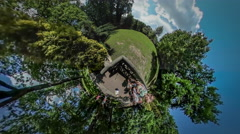 360Vr Video People Observation Deck Excursion Botanic Garden Opole Park Looking Stock Footage