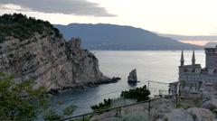 Swallow's Nest Castle Yalta, Crimea - stock footage