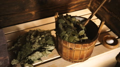 A traditional Russian Sauna,Bath 2 Stock Footage
