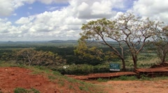 View to the jungle from the Sigiriya rock fortress in Sigiriya, Sri Lanka. Stock Footage