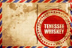 Tennessee whiskey, red grunge stamp on an airmail background Stock Illustration