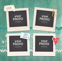 Vector template photo frame Stock Illustration