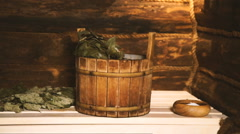 A traditional Russian Sauna,Bath Stock Footage