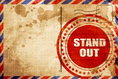 Stand out, red grunge stamp on an airmail background Stock Illustration
