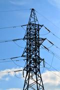 Power line closeup - stock photo
