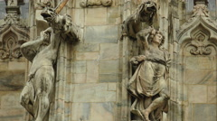 Vittorio Emanuele Gallery Milan and Cathedral Duomo Square,UltraHD 4k, real time Stock Footage