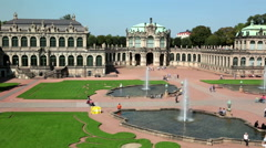 Zwinger palace, XVIII century - famous historic building in Dresden Stock Footage