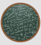 Illustration of chalkboard with math formula Stock Illustration
