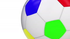 Flying soccerball Stock Footage
