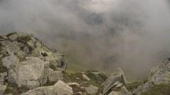 Mountain Rocks Vapor and Clouds Rising 4K - stock footage