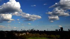 Primrose Hill. London Skyline. Timelapse Stock Footage
