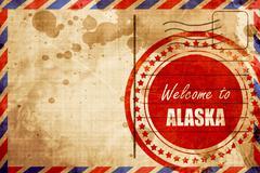 Welcome to alaska Stock Illustration