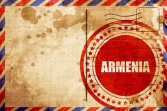 Greetings from armenia Stock Illustration