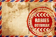 Rabies virus concept background - stock illustration