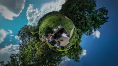 360Vr Video People at Excursion Botanic Garden Opole Park Standing on Stock Footage