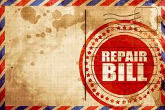 repair bill - stock illustration