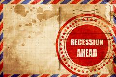 Recession ahead Stock Illustration