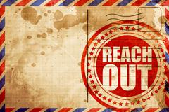 reach out - stock illustration