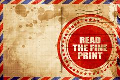 Read the fine print Stock Illustration