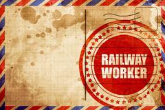 Railway worker Stock Illustration