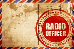 radio officer - stock illustration