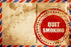 quit smoking - stock illustration