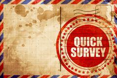 Quick survey Stock Illustration