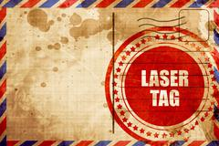Laser tag sign background Piirros
