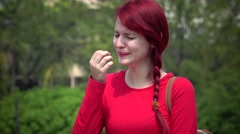 Tearful Young Teen Girl Crying Stock Footage