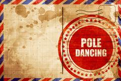 Pole dancing sign background Stock Illustration