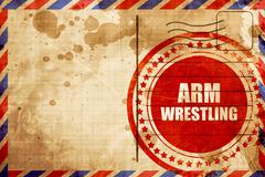 arm wrestling sign background - stock illustration