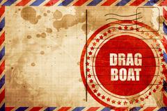 drag boat sign - stock illustration