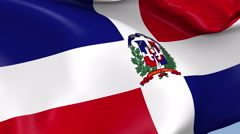 Dominican Republic Waving Flag Background Loop Stock Footage