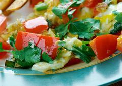 Migas Tex-Mex cuisine Stock Photos