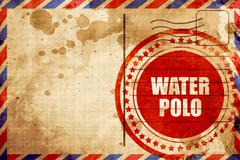 water polo sign background - stock illustration