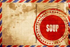 Delicious soup sign Stock Illustration