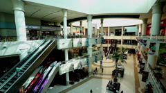 The customers at the modern shopping mall in Abu Dhabi, UAE Stock Footage