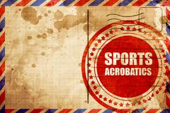 sports acrobatics sign background - stock illustration