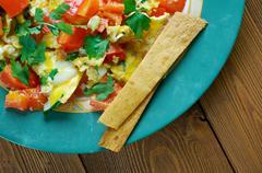 Migas Tex-Mex cuisine - stock photo