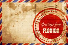 Greetings from florida Stock Illustration