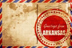 Greetings from arkansas - stock illustration