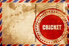 Cricket sign background Stock Illustration
