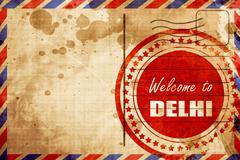 Welcome to delhi Stock Illustration